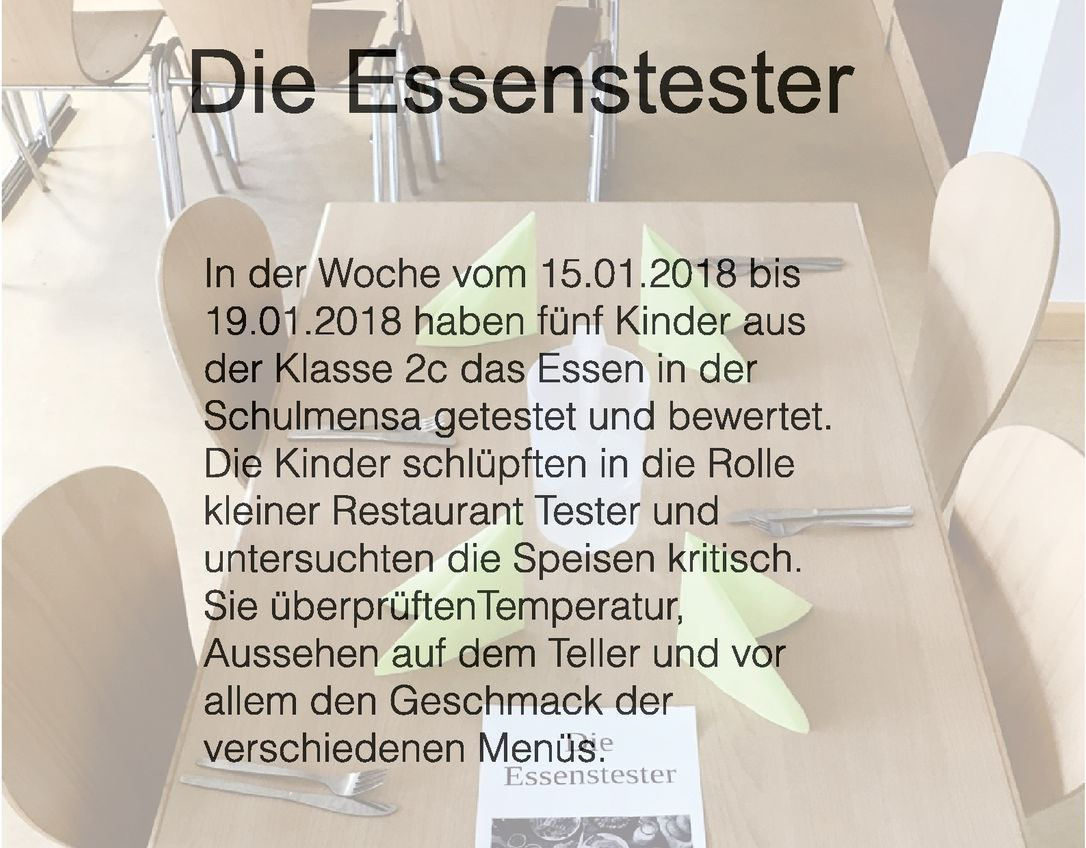 Essenstester